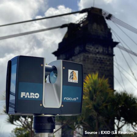 Photo pont avant scan 3D FARO