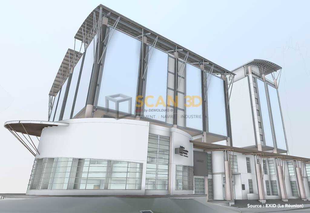 La maquette 3D dans le bâtiment