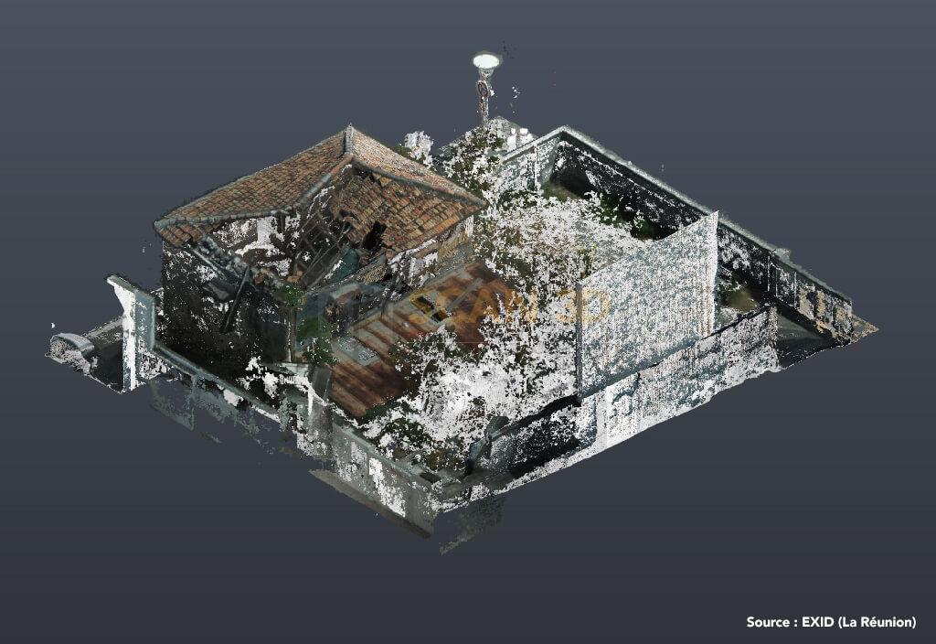 Photogrammétrie par drone, scan 3D